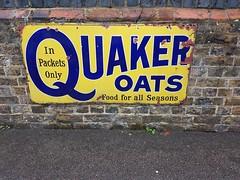 Quaker Oats sign (DorsetBelle) Tags: quakeroatssign quakeroats advertisingsigns advertising railwaysigns ongarstation eppingongarrailway vitreousenamelsigns enamelsigns
