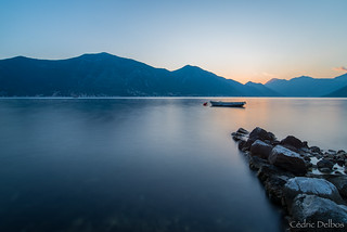 Sunset over the Kotor bay