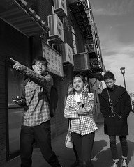 10th St. near Arch St., 2017 (Alan Barr) Tags: philadelphia 2017 10thstreet archstreet chinatown street sp streetphotography streetphoto blackandwhite bw mono monochrome candid city people panasonic lumix gx85