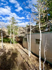 Hermit Hut (prairiegirrl) Tags: refuge vintage trailer royalespartanette 1952 noco northern colorado redfeather mountains rockymountains hideaway solitude quiet