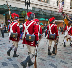walking past....569 (hansntareen) Tags: redcoats uniform musket rifle