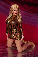 Golden girl (Juliapanther Over 58 million views, thanks!!!) Tags: add tags julia panther juliapanther golden gold dress dressing tgirl posing makeup model portrait beauty nylon pantyhose high heels legs lips lipstick shiny pinup boots glamour prom reflection