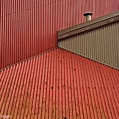 Hot Tin Roof (MBates Foto) Tags: architecture availablelight carlzeiss color daylight existinglight minimalist nikon nikond810 nikonfx outdoors red travel zeisslens vancouver britishcolombia canada v6h3r9