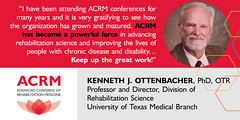 Overheard: Dr Ottenbacher at ACRM DALLAS (ACRM-Rehabilitation) Tags: acrmprogressinrehabilitationresearchconference acrmconference acrm annualconference awards posterwinner posters scientificpaperposters symposia scientificresearch evidencebased dallas hiltonanatole medicalconference medicaleducation medicaltechnology assistivetechnology
