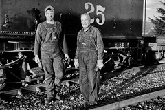 Engineer and fireman in Garibaldi (Rob Mesite) Tags: steam train oregoncoastscenic