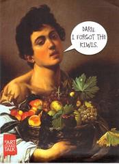 Postcrossing US-5637338 (booboo_babies) Tags: fruit fruits boy 1593 painting art humor funny caravaggio man postcrossing