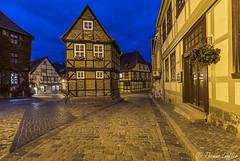 Quedlinburg (funtor) Tags: blue old town color city germany night light harz architecture building quedlinburg