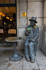 Just sitting here! (Anna Calvert Photography) Tags: landscape outdoors poland polska scenery buildings krakow cracow architecture oldtown city historic statue sittingman
