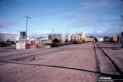 3762 Geraldton Railway Station Yard 5 June 1983 (RailWA) Tags: railwa philmelling westrail 1983 geraldton railway station talc