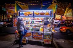Slow Business This Evening (EugeneClassyAlbum) Tags: food foodstand newyork newyorkcity newyorklife newyorkphotography nyc ny night neonlight manhattan bigapple street streetfood streetphotography