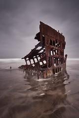 The wreck of the Peter Iredale (Mattias Marklund (stofil)) Tags: sky water sea sand wreck beach seascape landscape longexposure nisi oregon coast beachlife coastline sonyalpha sonya7riii sonya7rm3 zeiss zeisscameralenses zeissbatis batis225
