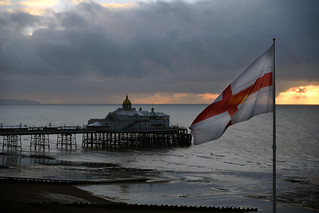 Saint of mine ( Cross of Saint George and Eastbourne Pier)  -  (Selected by GETTY IMAGES)