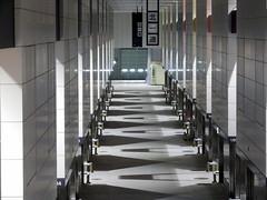 Toyosu Market Fruit and Vegetable Market 豊洲市場 青果棟 (: : Ys [waiz] : :) Tags: fujifilm s1 finepixs1 江東区 東京都 東京 tokyo 豊洲市場 豊洲 奥行き depth market architecture concrete passage corridor shadow indoor