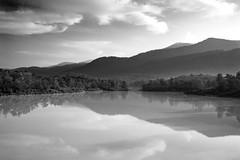 ... (Zairi) Tags: bw landscape reflection protoncity tanjongmalim perak lake