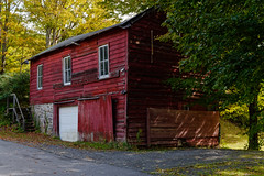 Ramshackle Shed (fotofish64) Tags: shed barn ramshackle window door building rural quaint rustic red color sandlake averillpark rensselaercounty capitaldistrict newyork outdoor white pentax pentaxart kp kmount hdpentaxda1685mmlens