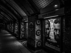 Baker Street UFC (5Cantonas) Tags: alanbathamimages blackandwhite londonunderground mobilephone samsung