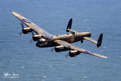 RAF Battle of Britain Memorial Flight BBMF Lancaster PA474 at Llandudno 2018 (NDSD) Tags: low level england uk ww2 wwii world war two transport aviation wales festival raf 100 palne flying flypast lancaster avro hurricane spitfire dam dambusters tribute armed forces royal air