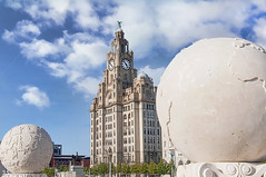 Royal Liver Building (Bob Edwards Photography - Picture Liverpool) Tags: royalliver building architecture pierhead merseyside waterfront bluesky clouds pictureliverpool bobedwardsphotography memorial naval remembrance
