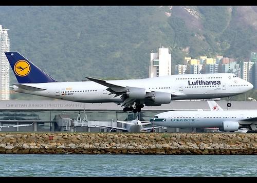 B747-8i | Lufthansa | 1,500th Boeing 747 | D-ABYP | HKG