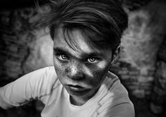 Shadow of My Hand ({jessica drossin}) Tags: jessicadrossin portrait photography blackandwhite monochromatic jdmonotones freckles shadow hair son boy kid dark wwwjessicadrossincom