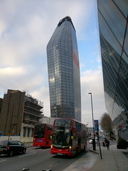 bulging building (n.a.) Tags: bulging building red double decker bus london blackfriars