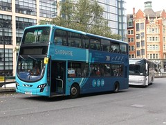 Arriva North West 4491 (MX61AUR) 01092018 (Rossendalian2013) Tags: arrivanorthwest bus manchester piccadilly railway station railreplacement wrightbus wright gemini2dl mx61aur sapphire