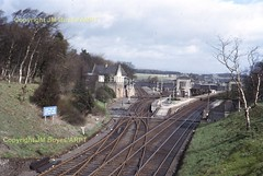 156 Gleneagles station looking north 17-04-65 (John Boyes) 156 (Ernies Railway Archive) Tags: lms cr scotrail gleneaglesstation