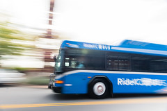 RideKC Bus (Kevin VanEmburgh Photography) Tags: bus city kansascity kcata kevinvanemburghphotography metro publictransportation motionblur movement busmoving fast speed blue bluebus speedingbus kansascitybus ridekcbus ridekc