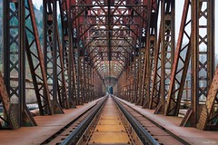 railway bridge (tamson66) Tags: railway bridge iron old detail děčín cz