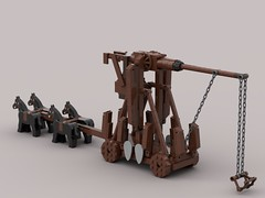 Trebuchet (Yobb Rschp) Tags: lego castle medieval trebuchet siege
