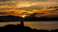 5227      A man, his dog and a sunset (foxxyg2) Tags: sun sunset sky clouds glow aegean art topaz topazsoftware topazstudio naxos cyclades greece greekislands islandhopping islandlife