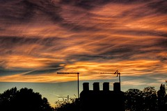 Rooftop Sunset!😁 (LeanneHall3 :-)) Tags: sunset rooftop chimney orange blue white talkativeclouds cloudsstormssunsetssunrises sky skyscape clouds hull kingstonuponhull landscape canon 1300d groupenuagesetciel