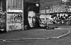Al Pacino (Manuel Goncalves) Tags: liverpool rolleiretro400s 35mmfilm blackandwhite graffiti nikonn90s analogue epsonv500scanner