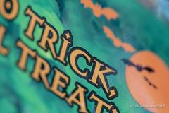 Treat Bag II (Desdanova) Tags: trickortreat green macro text orange stockton california unitedstates us