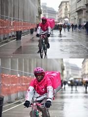 [La Mia Città][Pedala] per Foodora (Urca) Tags: milano italia 2018 bicicletta pedalare ciclista ritrattostradale portrait dittico bike bicycle nikondigitale scéta 11592