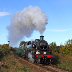 Southern Local (Treflyn) Tags: southern local ivatt 2mt 262 41312 alresford ropley shuttle northside lane foot crossing 2018 midhants railway watercress line autumn steam gala bulleid coach