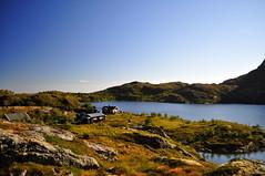 Cabins on the edge of Ågvatnet (charlottehbest) Tags: charlottehbest norway scandinavia roadtrip honeymoon 2017 september autumn lofotenislands lofoton exploring fjords nikon nikond5000 d5000 water