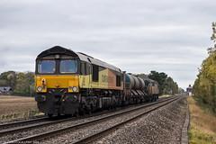 66848 at Wadbourough [3S32] 25.10.2018 (Wolfie2man) Tags: colas colasrailfreight 66848 class66 wadborough 3s32 56096 class56 railheadtreatmenttrain