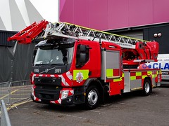 Greater Manchester Fire and Rescue Service Volvo FE Turntable Ladder. (Vinnyman1) Tags: greater manchester fire rescue service volvo fe turntable ladder gmfrs tl ess emergency services show 2018 nec national exhibtion centre police ambulance birmingham west midlands england uk united kingdom gb great britain