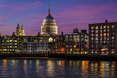 Across to St Pauls (PhredKH) Tags: bridges canonphotography cathedral cityscape fredkh goldenhour iconic iconicbuilding london photosbyphredkh phredkh riverthames southbank splendid stpauls thames thamesriver twilight boats cityoflondon dusk river scencwater sky stuffonwater water
