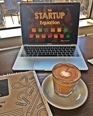 A little cortado and my trusty notebook are gearing me up for a two-day deep dive with the startups at Singularity University! Let's do this! (Ja-NaeDuane) Tags: janae the sun queen