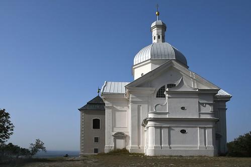 Am Svatý kopeček (Heiliger Berg) bei Mikulov, Kirche St. Sebastian (1623)