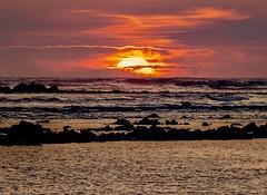 BURNING SUN (robertodestaracphoto) Tags: peaceful love horizon waves tife reef rocks closeup sea travel orange clouds waterscape ocean sun sunset