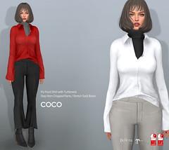 COCO New Release @ Fameshed (cocoro Lemon) Tags: coco newrelease shirt turtleneck stephem cropped pants boots fameshed mesh secondlife fashion maitreya slink belleza