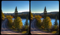 Indian summer in Ontario 3-D / CrossView / Stereoscopy / HDRaw (Stereotron) Tags: north america canada province ontario road backroad forest woods outback backcountry wilderness cross eye view xview crosseye pair free sidebyside sbs kreuzblick bildpaar 3d photo image stereo spatial stereophoto stereophotography stereoscopic stereoscopy stereotron threedimensional stereoview stereophotomaker photography picture raumbild twin canon eos 550d remote control synchron kitlens 1855mm 100v10f tonemapping hdr hdri raw