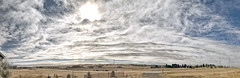 Cloudscape: Altostratus opacus & Stratocumulus stratiformis undulatus (northern_nights) Tags: cloudscape skyscape sky clouds cheyenne wyoming pano panorama sun