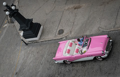 Overhead Shot of Classic Car - Old Havana, Cuba (ChrisGoldNY) Tags: chrisgoldphoto chrisgoldny chrisgoldberg cuba cuban caribbean latinamerica licensing forsale cubano bookcover albumcover sony sonyimages sonya7rii sonyalpha havana habana lahavana lahabana pink classiccars cars car classic 50s fifties colors colorful colourful colours overheard aerial cobblestone oldhavana