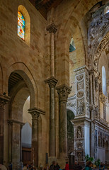 Nave and trancept (Tigra K) Tags: cefalù palermo italy it 2018 architecture baroque byzantine carving cefalu church column interior mural ornament religious romanesque sculpture sicily statue vitrage window arch art