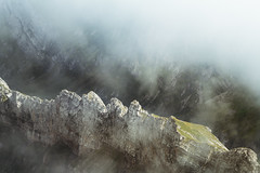 Cloudy ridge (Rico the noob) Tags: grass rock d850 landscape nature outlook switzerland outdoor stones clouds dof schweiz published saentis 2018 70200mm fog 70200mmf28 mountains rocks mountain