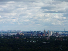 Newark from Eagle Rock (Dendroica cerulea) Tags: city skyline clouds sky landscape autumn eaglerockreservation essexcounty nj newjersey
